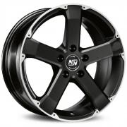 45 Matt Black + Full Polished 8x18 (5x120 ET45)