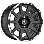 Dakar Matt Black + Polished Lip + Rivets 7,5x17 (5x120 ET30)