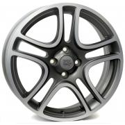 Fiat Erato Matt Grey Polished 6x16 (4x98 ET45)