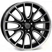 Mini Rivers Glossy Black Polished 7x17 (4x100 ET48)