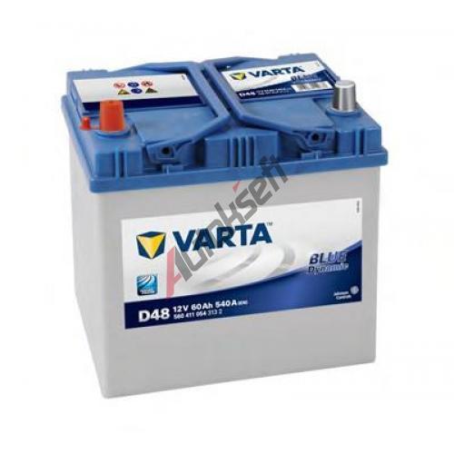 Startovací baterie VARTA 60Ah L, s.p.540A, BLUE dynamic, 12V, 232x173x225, VT 5604110543132 ...